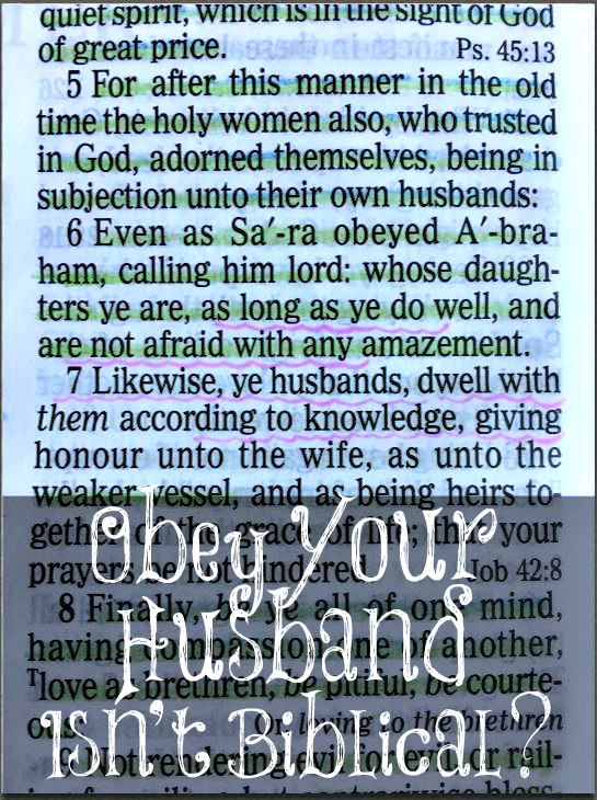 Bible wife obey husband What Does